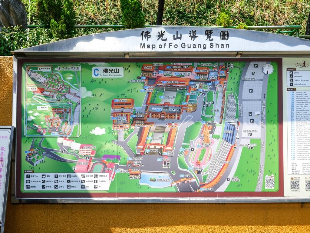 佛光山のマップ