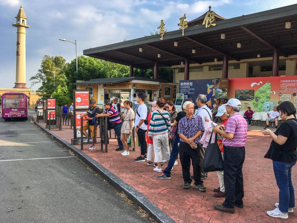 佛陀紀念館のバス乗り場