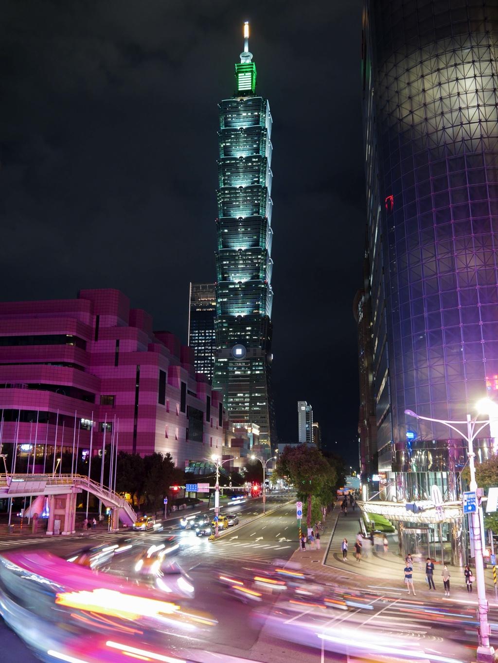 信義路橋から見た台北101