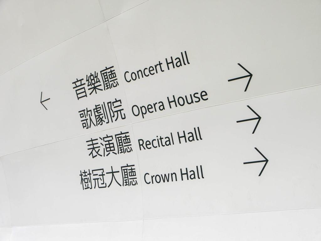 各ホールの案内