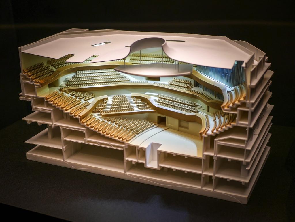 衛武營國家藝術文化中心のコンサートホールの模型