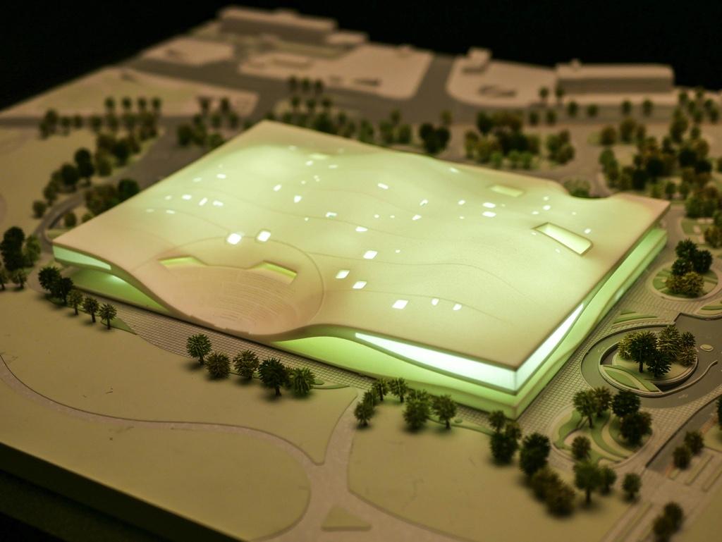 衛武營國家藝術文化中心の外観の模型