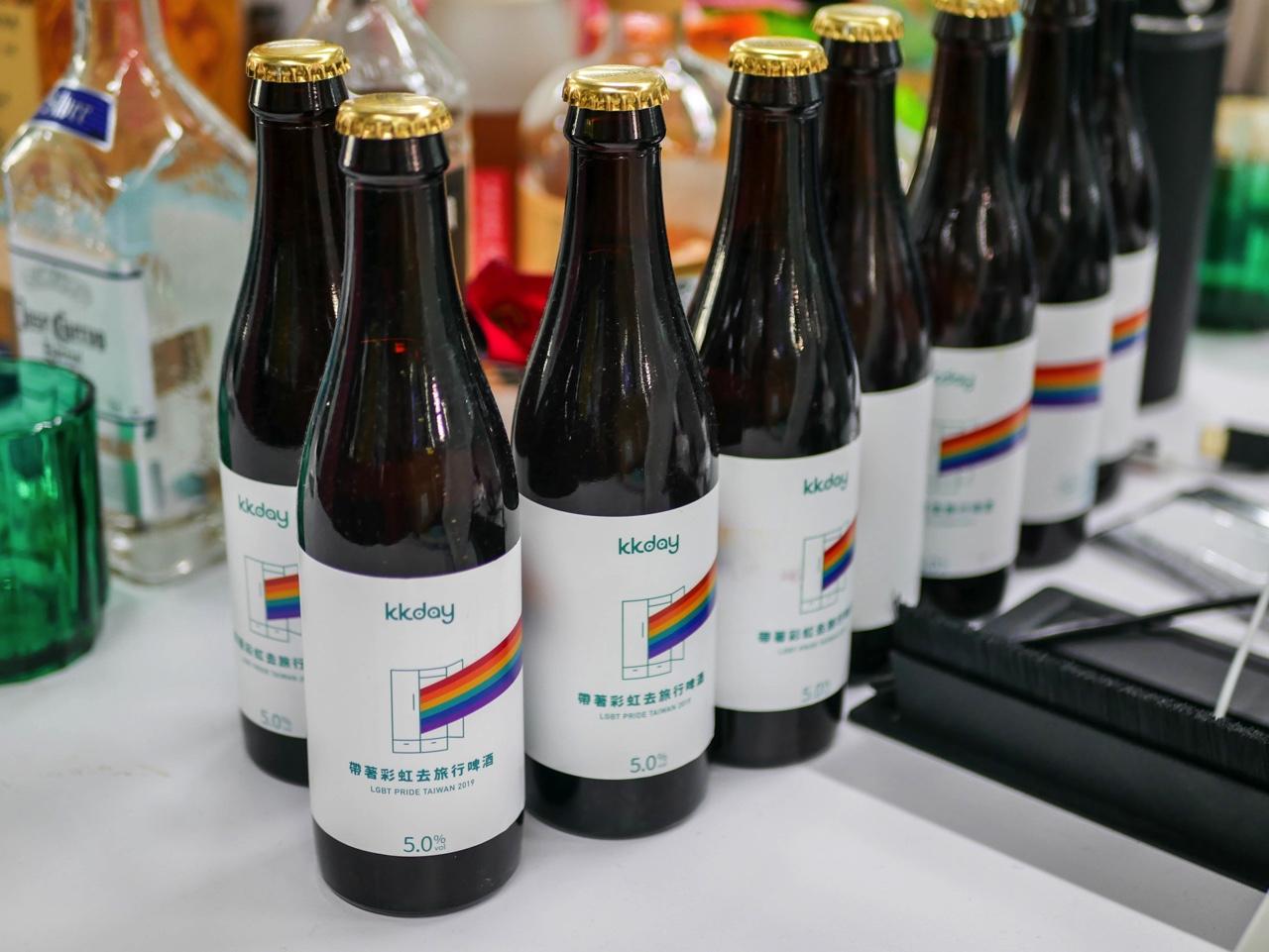 KKdayオリジナルラッピングのビール
