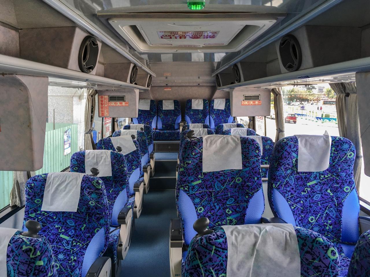 統聯客運のバス車内