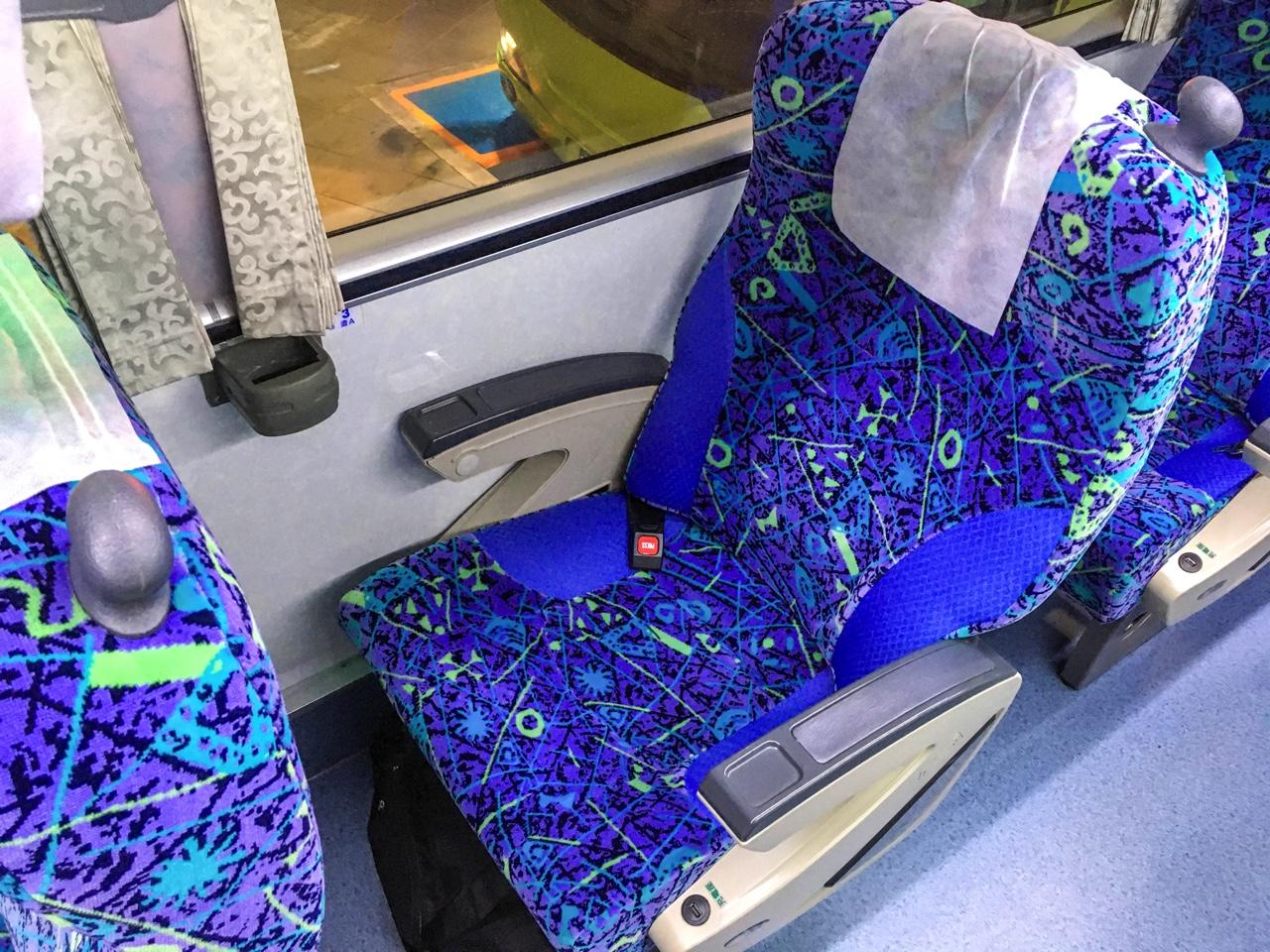 統聯客運バスの座席