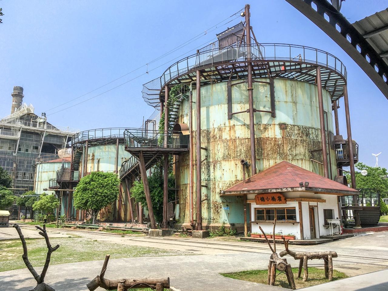 円柱型の施設