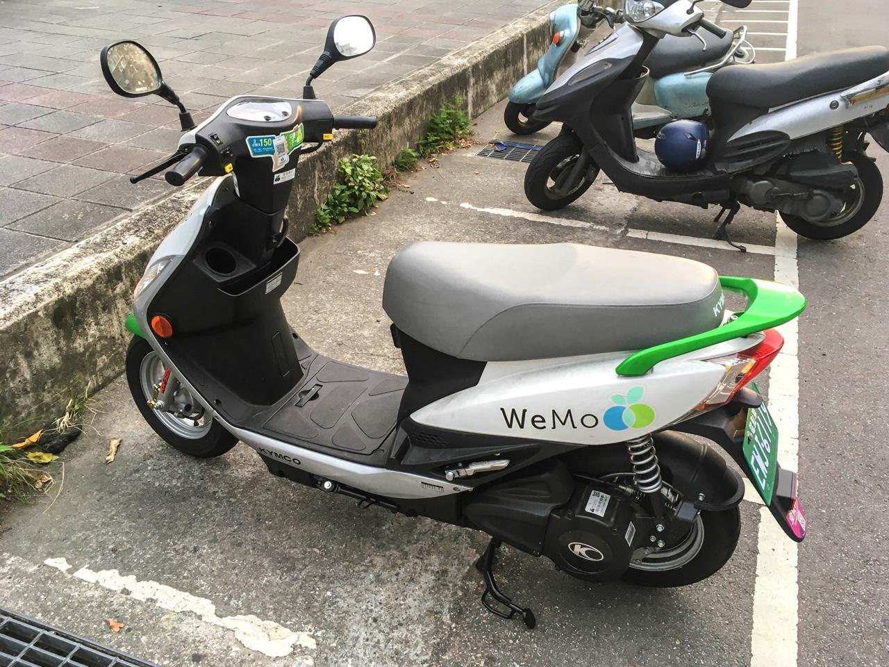 二輪車駐停車スペースに停車したWeMo