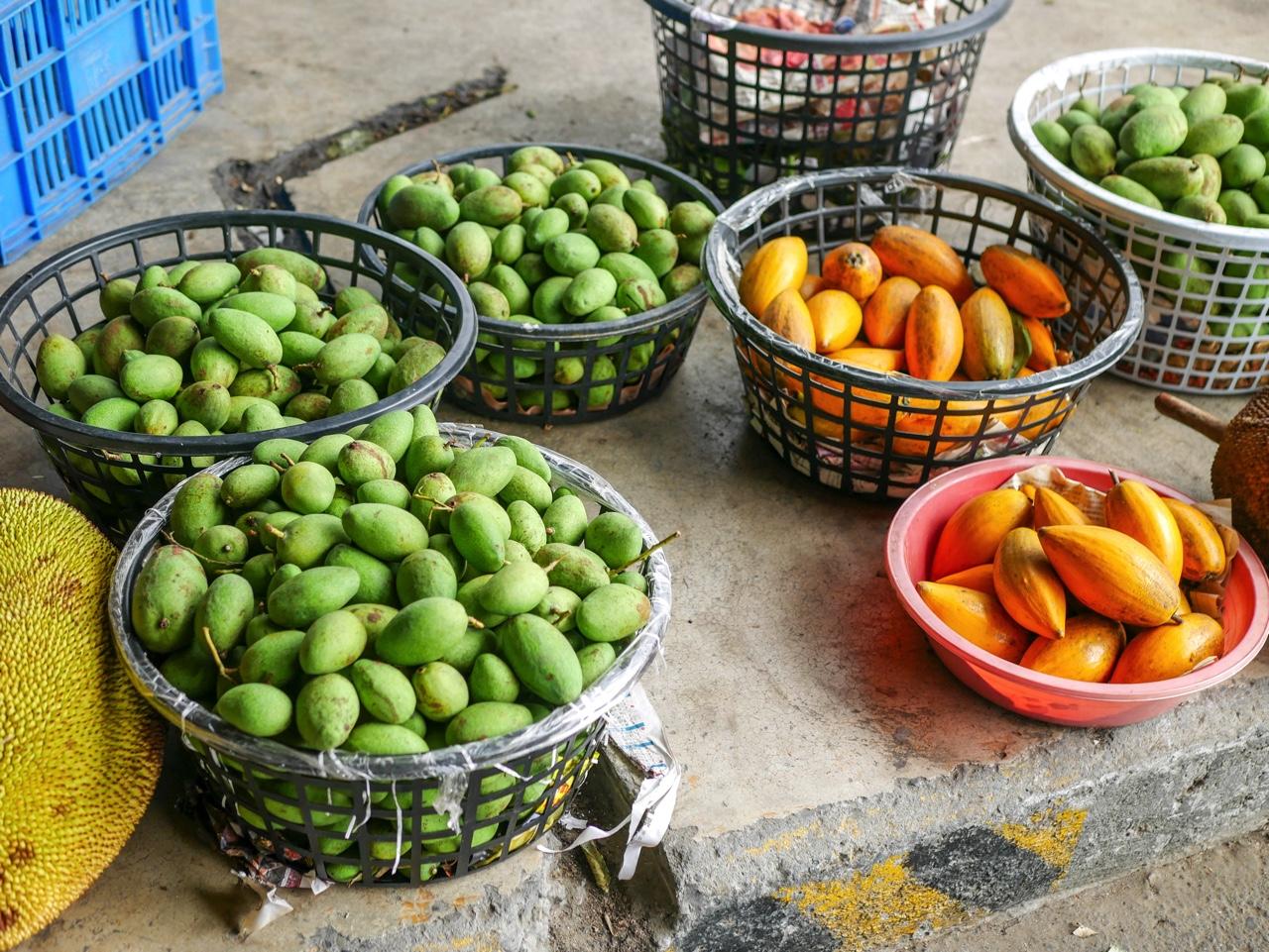 玉井青果市場で売られいる土芒果