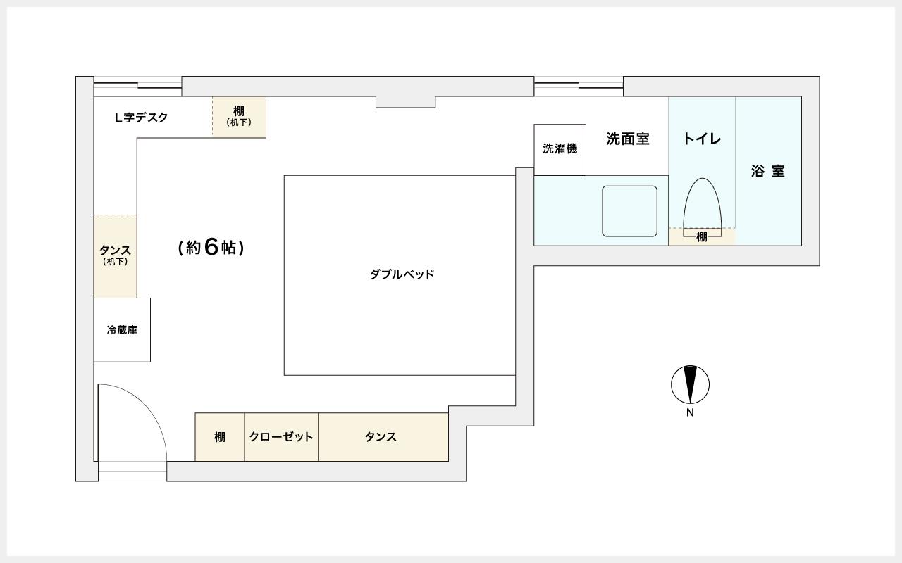 部屋の間取図