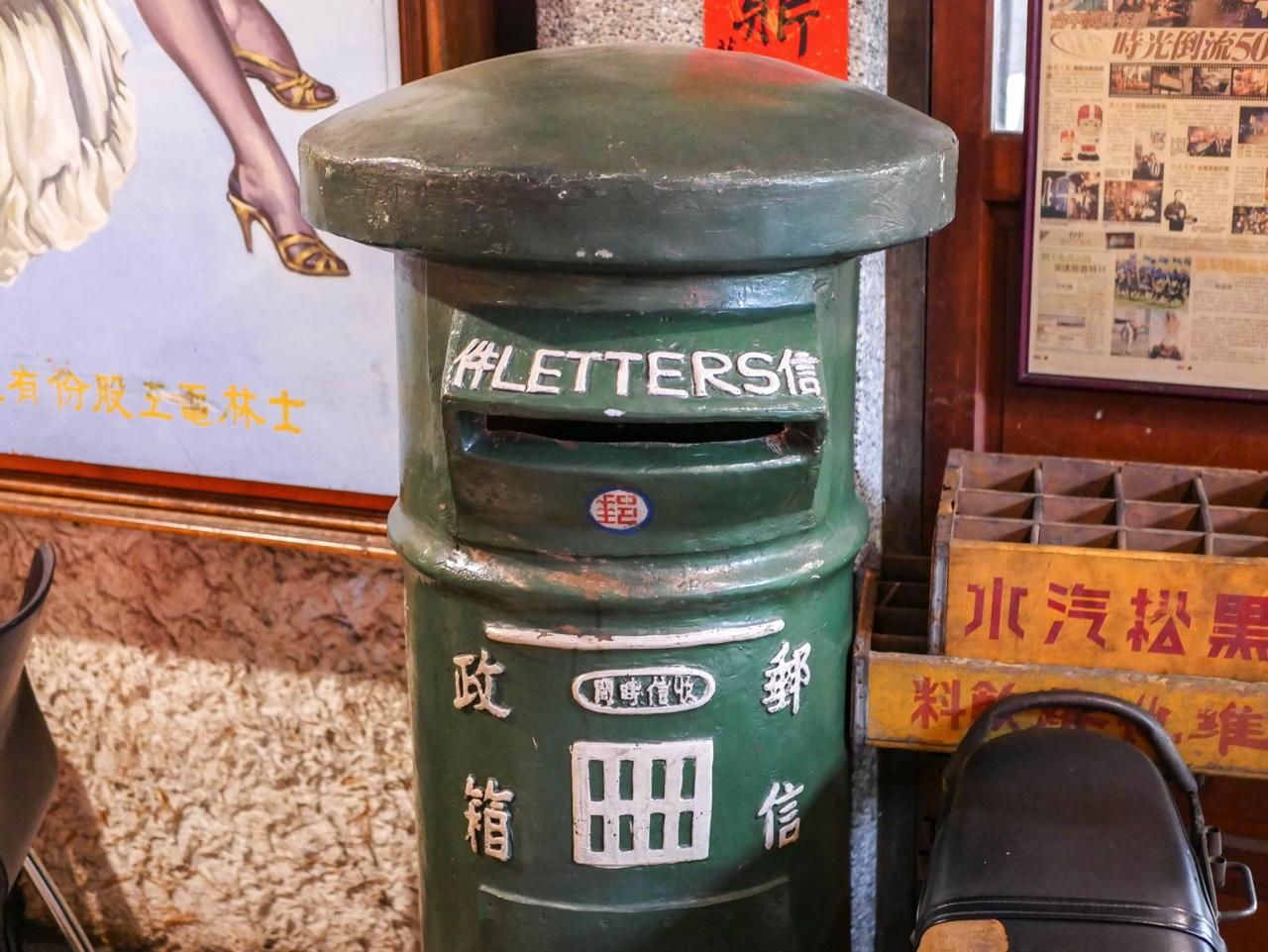 円筒形郵便ポスト