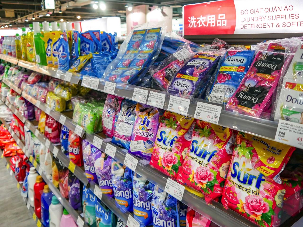東南アジアショッピング・グルメプラザの洗剤