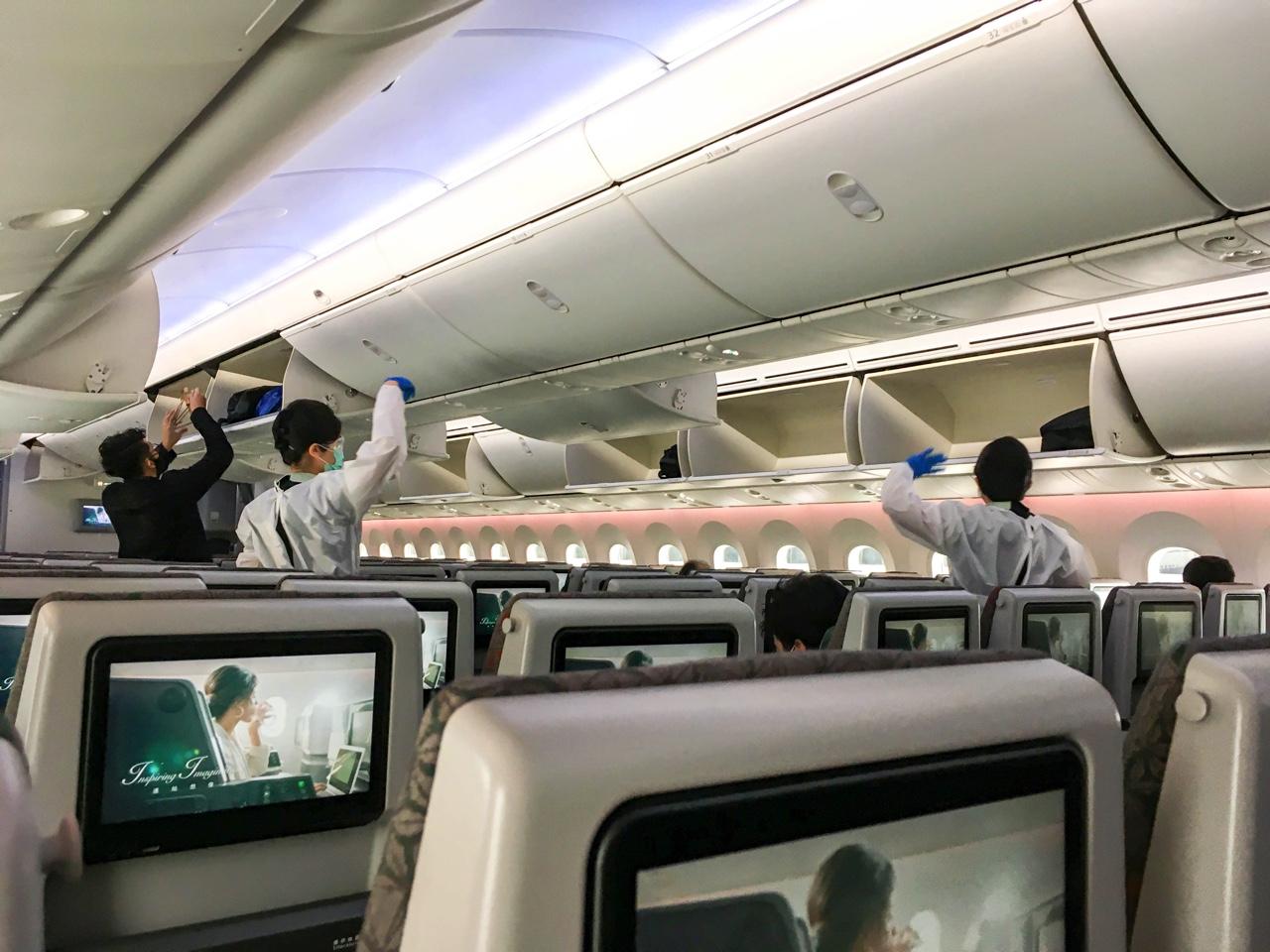 EVA Airの飛行機内