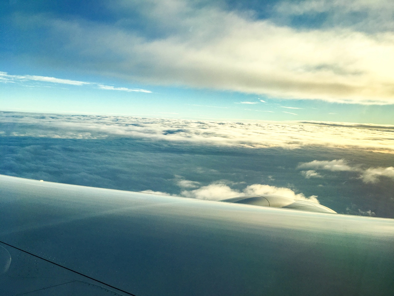 日本から台湾に向かう機内からの風景
