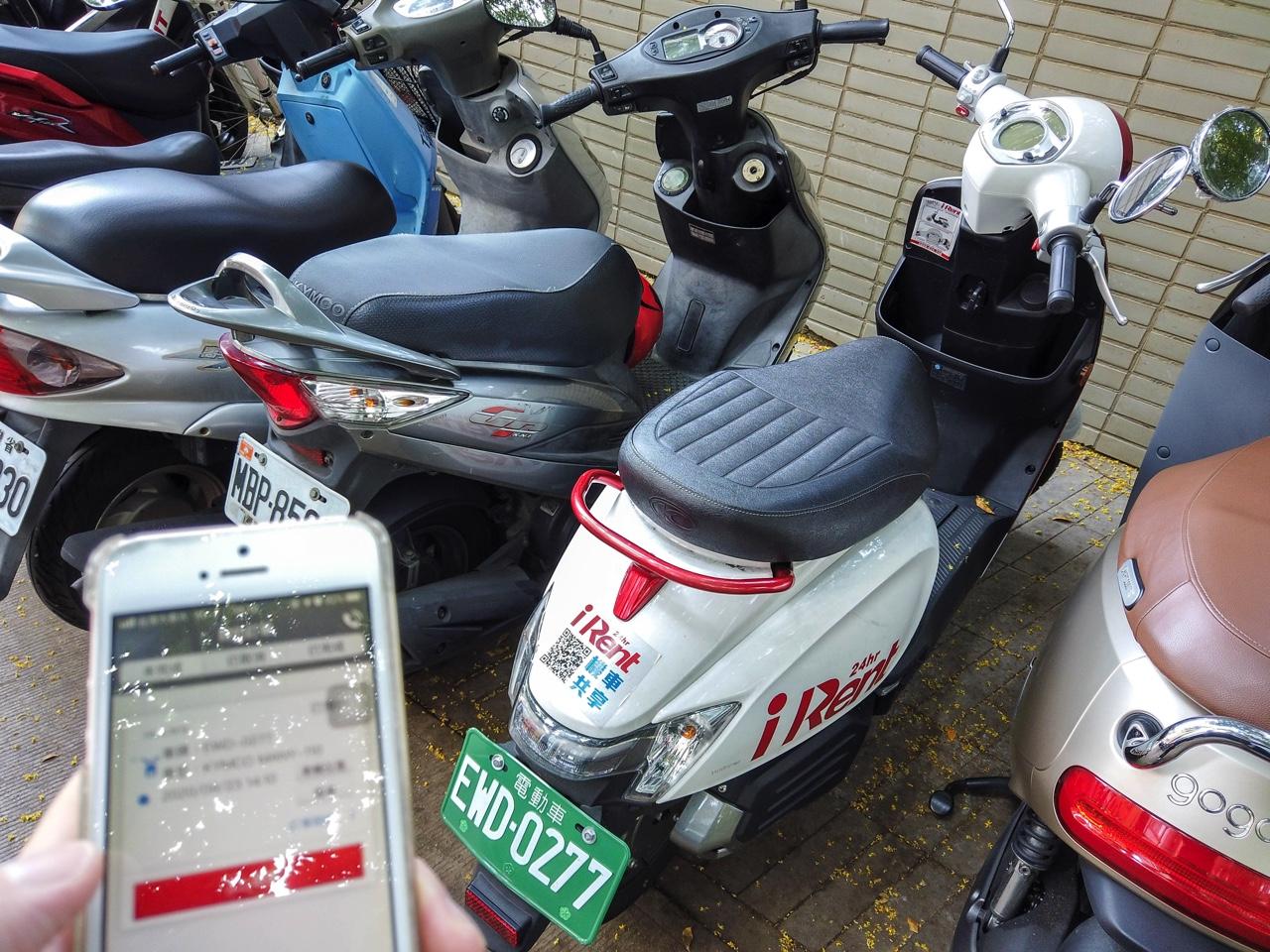 予約したiRentのバイク