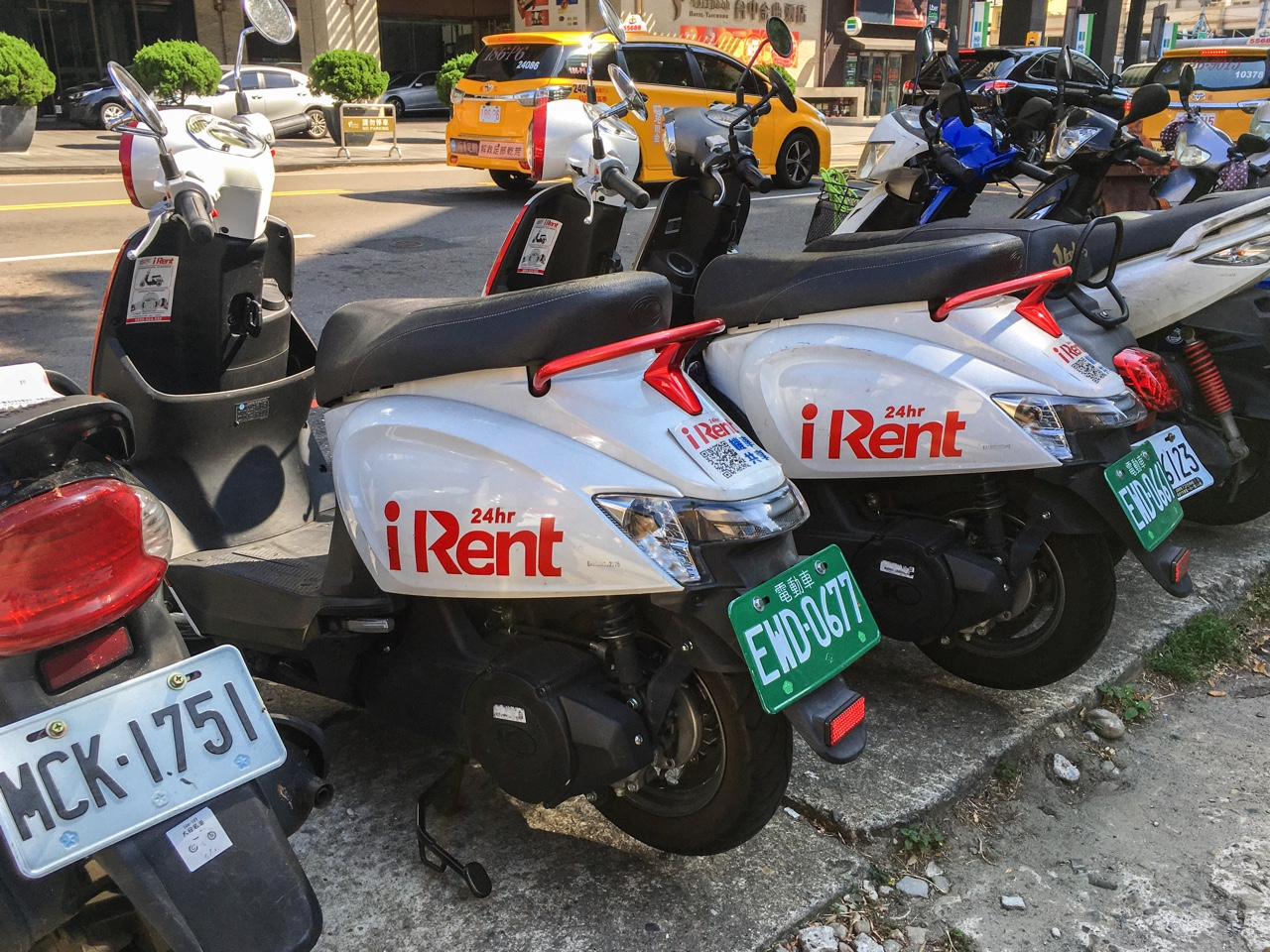 駐車中のiRentバイク
