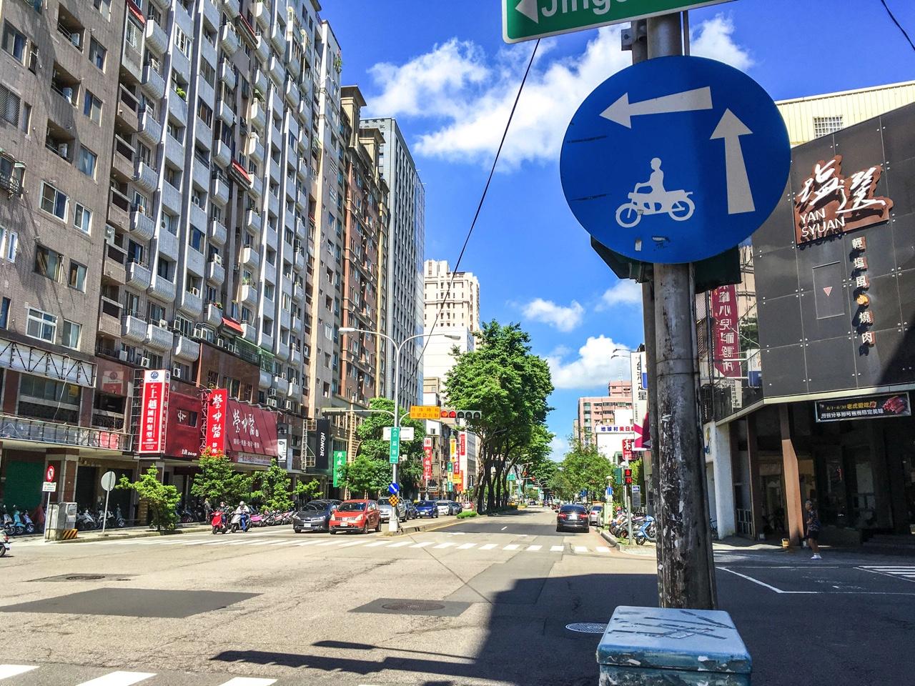 台中市内の道路